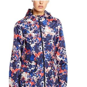 Blue Floral Lightweight Trench Raincoat